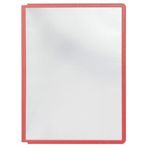 Informační rámečky Cordoba A4, 10 ks, červené