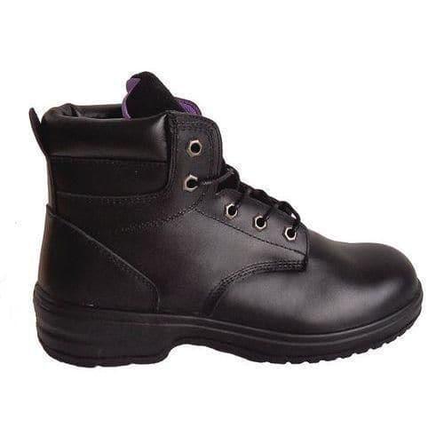 243344eeca7 Pracovní koženkové kotníkové boty Manutan s ocelovou špicí