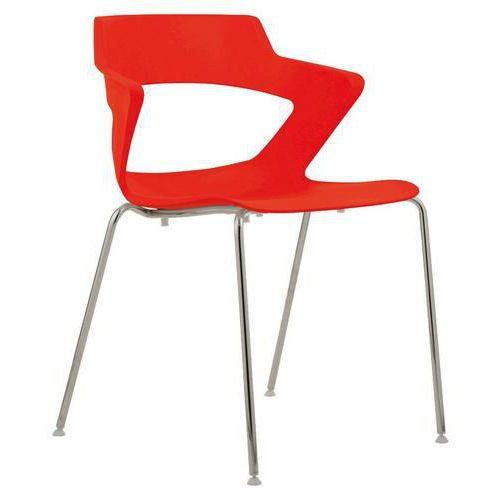 Plastová jídelní židle Aoki, červená
