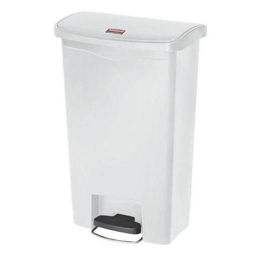 Plastový odpadkový koš Rubbermaid Front Step, objem 50 l, bílý - Prodloužená záruka na 10 let