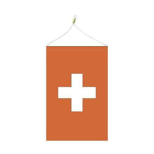 Malá státní vlajka, s očkem pro zavěšení, 16 x 11 cm, Švýcarsko
