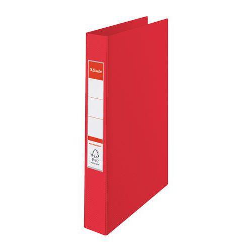 Esselte VIVIDA kroužkový pořadač 2 kroužky A4 plastový červený