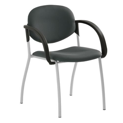 Konferenční židle Mandy Silver s područkami, antracit