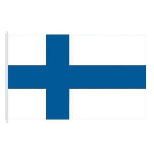 Státní vlajka, s karabinou, 150 x 100 cm, Finsko