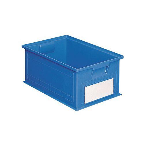 Barevná plastová přepravka PS (28 l), modrá - Prodloužená záruka na 10 let