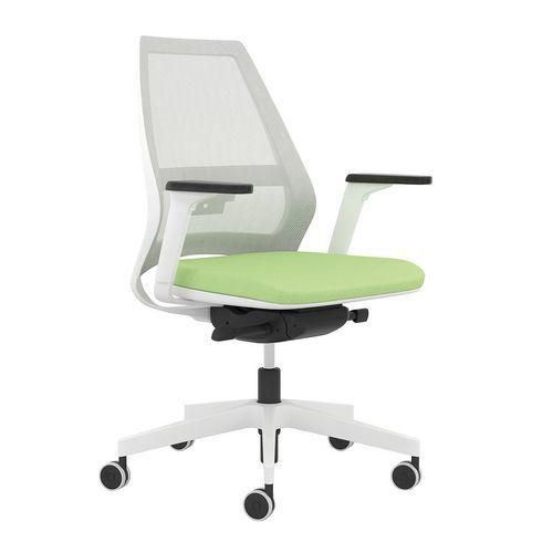 Kancelářská židle Infinity Net White, světle zelená