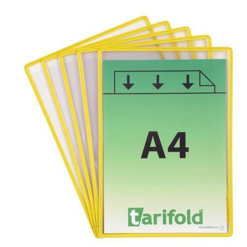 Informační rámečky Rotor Revo A4, 5 ks, žluté