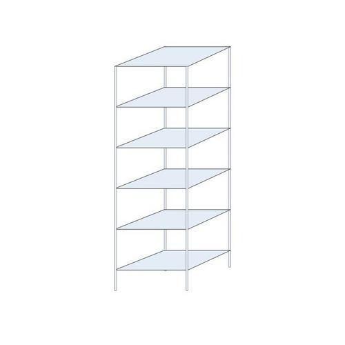 Kovový regál Ogmios, základní, 250 x 75 x 60 cm, 1 700 kg, 6 pol