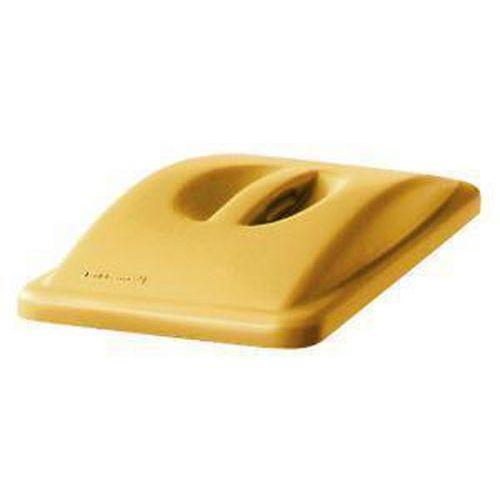 Víko na odpadkové koše Rubbermaid Slim Jim, 60 a 87 l, žluté