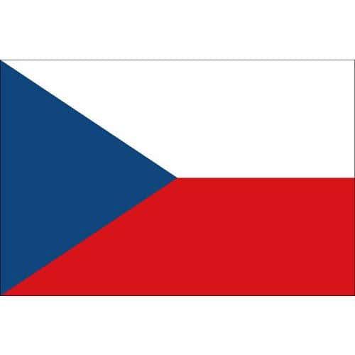 Malá státní vlajka, s očkem pro zavěšení, 16 x 11 cm, Česká Repu