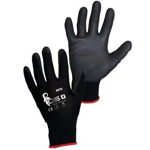 Nylonové polomáčené rukavice bez švů, vel. 11