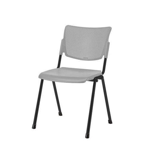 Plastová jídelní židle MIA Black, šedá
