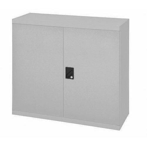 Kovová dílenská skříň, 100 x 104,4 x 62,5 cm, šedá