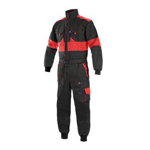 Pánská pracovní kombinéza CXS, černá/červená