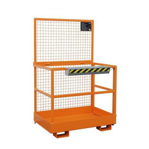 Pracovní klec pro vysokozdvižný vozík, rozměry 80 x 120 cm, stacionární