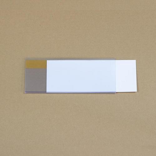 Manutan držák etiket na regály, samolepicí, 80 x 200 mm