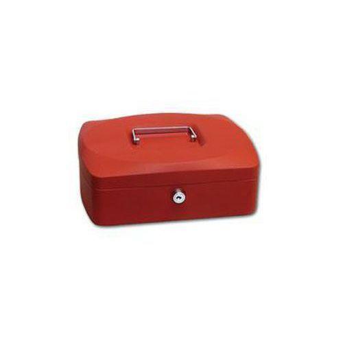 Přenosná pokladna, červená, 9 x 25,5 x 20 cm