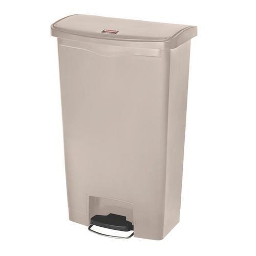 Plastový odpadkový koš Rubbermaid Front Step, objem 68 l, béžový