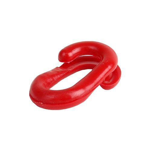 Spirálová spojka k řetězům na zahrazovací sloupky, červená