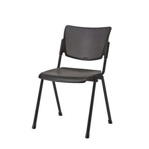 Plastová jídelní židle MIA Black, černá