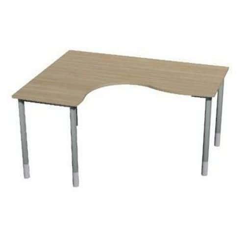 Roh kancelářský stůl Gemi line, 180/80 x 140/65 x 70-90 cm, levé provedení, světlé dřevo