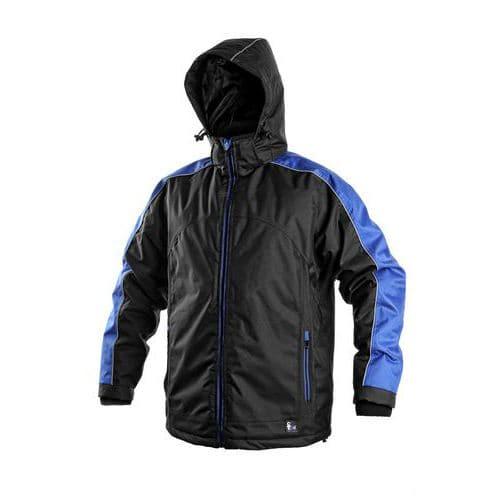 Canis Pánská zateplená bunda, černo-modrá, vel. XXL