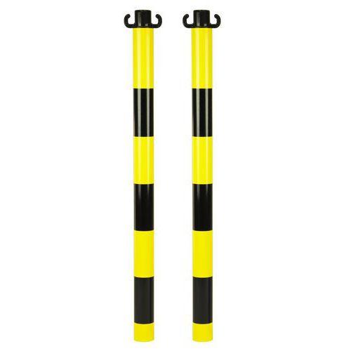 Pevné kovové zahrazovací sloupky Kit, výška 95 cm, 2 ks, černé/žluté - Prodloužená záruka na 10 let