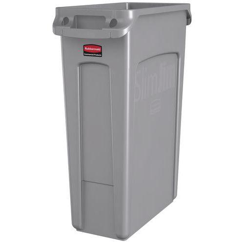 Plastový odpadkový koš Rubbermaid Slim Jim na tříděný odpad, objem 87 l - Prodloužená záruka na 10 let