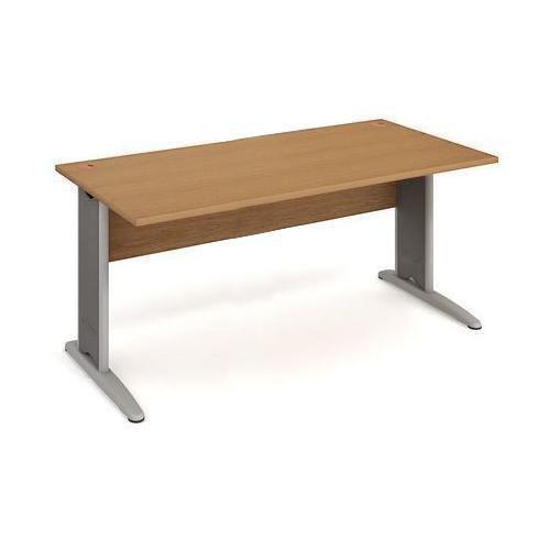 Kancelářský stůl Cross, 180 x 80 x 75,5 cm, rovné provedení, dezén buk