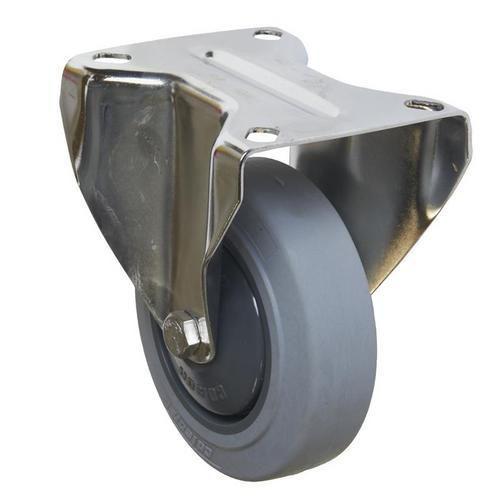 Gumové transportní kolo s přírubou, průměr 100 mm, valivé ložisk