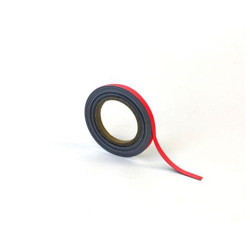 Popisovatelná páska na regály, magnetická, červená, 1 x 1000 cm