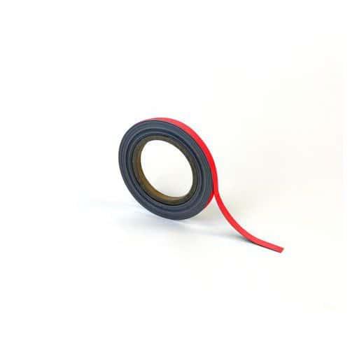 Magnetická páska na regály Manutan, 10 m, červená, šířka 10 mm