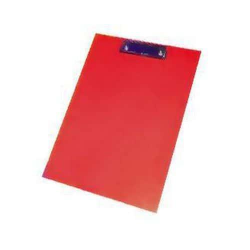 Psací podložka s klipem, A4, 12 ks, červená