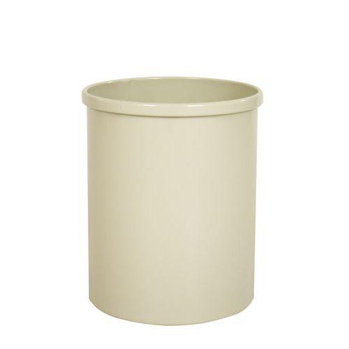 Kovový odpadkový koš Tube, objem 15 l, bílý