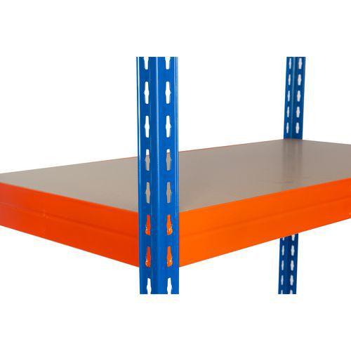 Přídavná dřevovláknitá police, 210 x 60 cm, 350 kg, oranžová