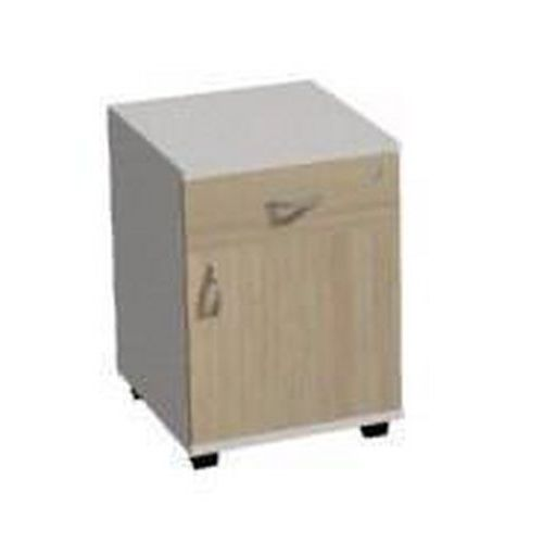 Mobilní kontejner pravý Ergo, 61 x 43 x 54 cm, 1 zásuvka, 1 skříň, dezén světlé dřevo