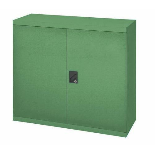 Kovová dílenská skříň, 100 x 104,4 x 62,5 cm, zelená
