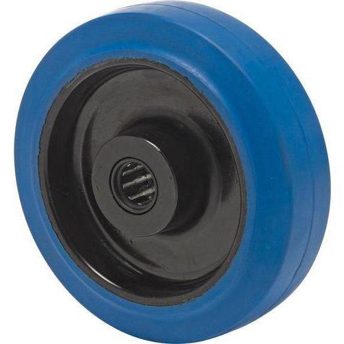 Gumové pojezdové kolo, průměr 125 mm, valivé ložisko