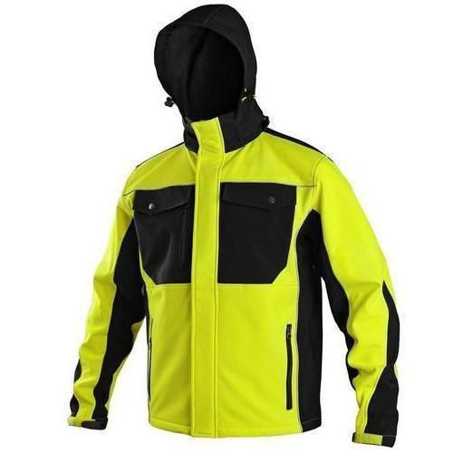 Pánská softshellová bunda, žluto-černá, vel. L