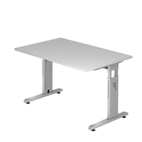 Kancelářský stůl Baron Minos, 120 x 80 x 65 - 85 cm, rovné prove