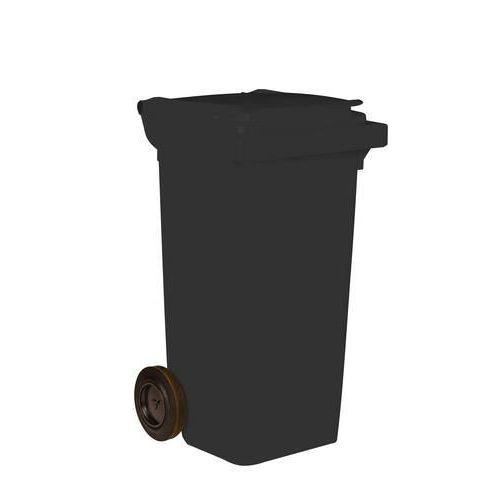 Plastová venkovní popelnice na tříděný odpad, objem 120 l, černá