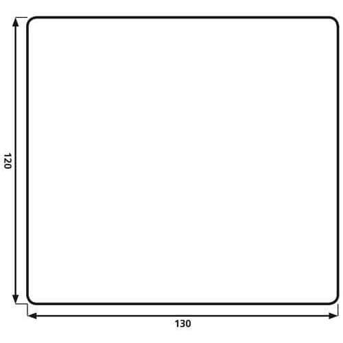 Ochranná podložka pod židli na koberce, obdélníková, 130 x 120 c