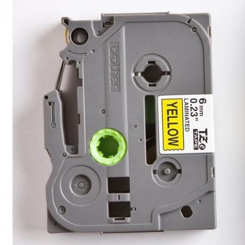 Páska TZ pro Brother PT, šířka 6 mm, žlutá