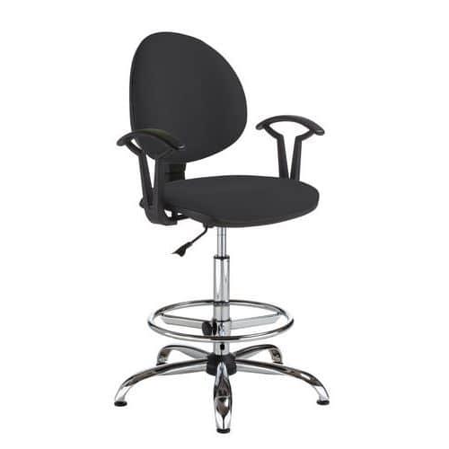 Pracovní židle Smarty s kluzáky, černá - Prodloužená záruka na 10 let