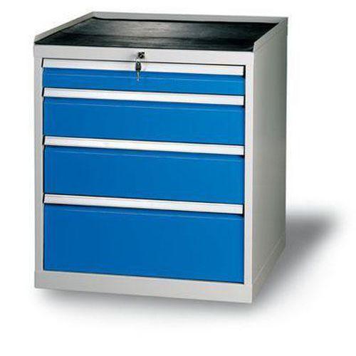 Dílenská zásuvková skříň, 84 x 72 x 70 cm, 4 zásuvky