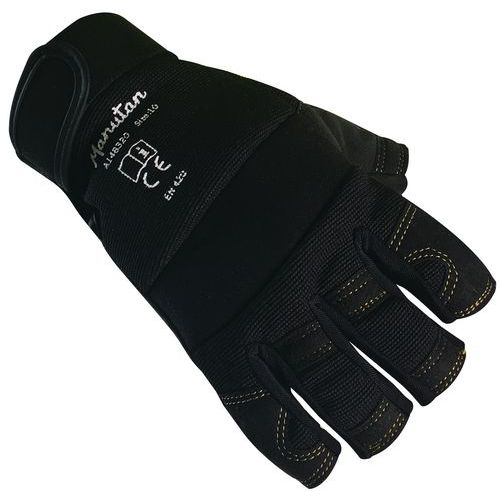 Polyesterové rukavice Manutan, černé, vel. 9