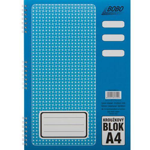 Blok A4 s kovovou boční spirálou, čistý, 5 ks