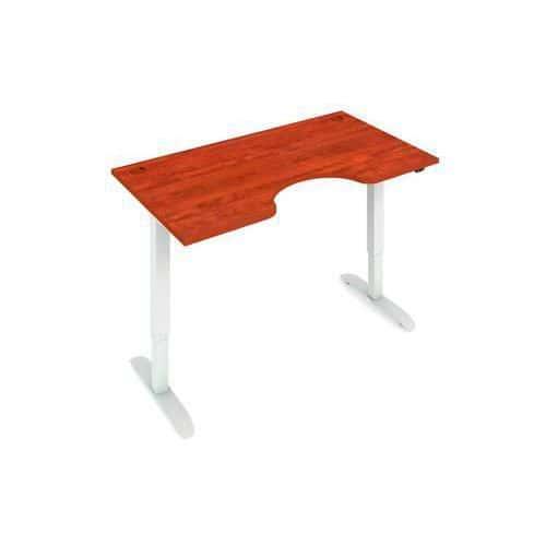 Ergo výškově nastavitelný kancelářský stůl MOTION ERGO, 140 x 90 cm, buk/bílý - Prodloužená záruka na 10 let