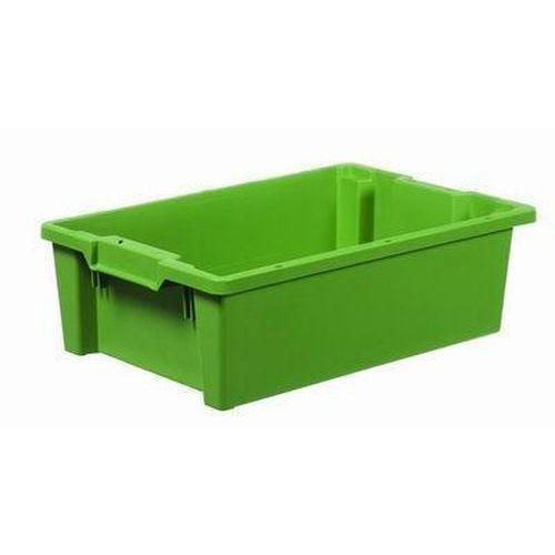 Stohovatelná zasouvací přepravka PP, zelená, 32 l