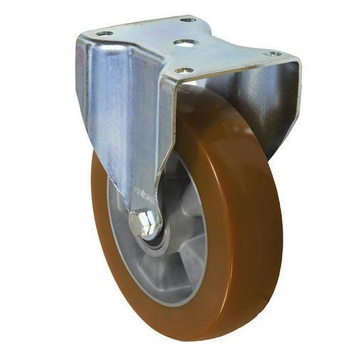 Polyuretanové transportní kolo s přírubou, průměr 200 mm, valivé